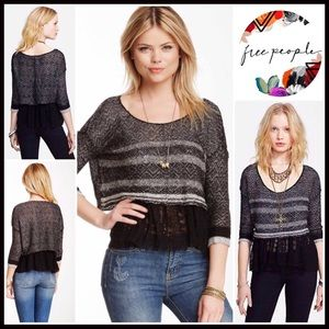 FREE PEOPLE PULLOVER & CAMI TANK 2 LAYER TOP